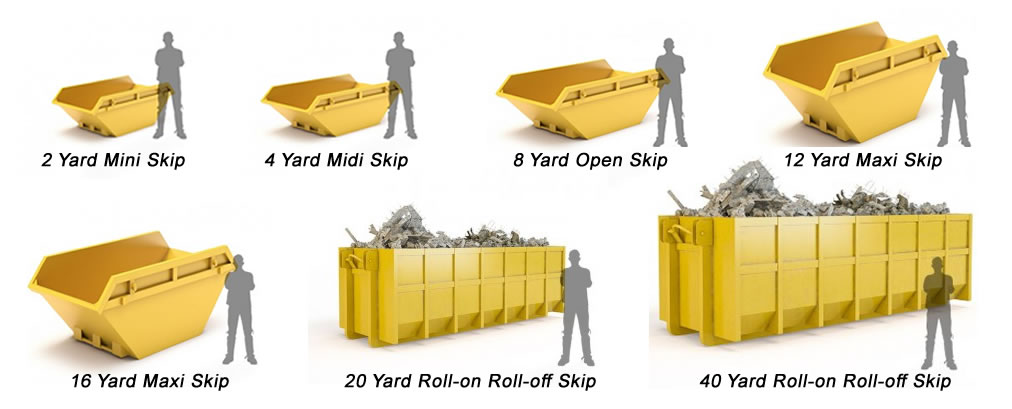 Skip sizes available from Kelso Skip Hire